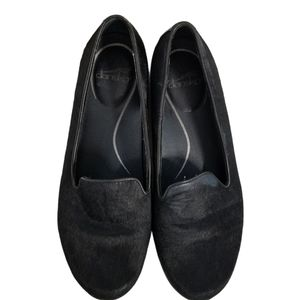 Dansko Olivia Black Vegan Calf Hair Loafers